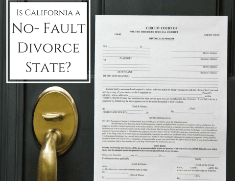 California is a no-fault divorce state
