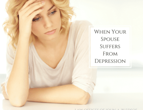 When Your Spouse Suffers from depression