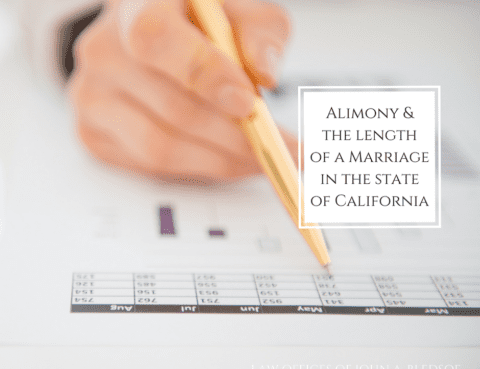 Alimony Spousal Support and Marriage Length