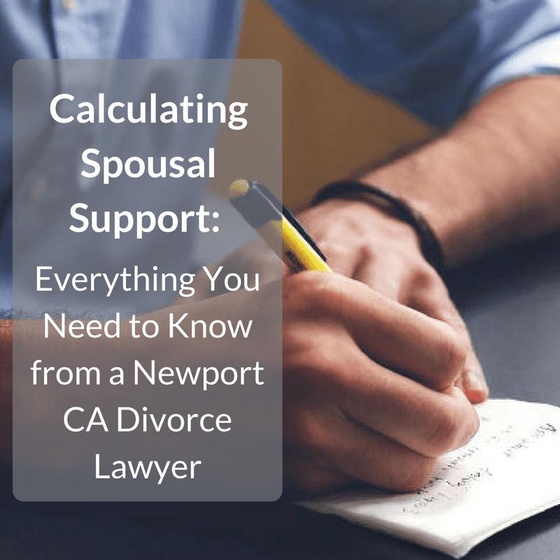 alimony in california divorce cases