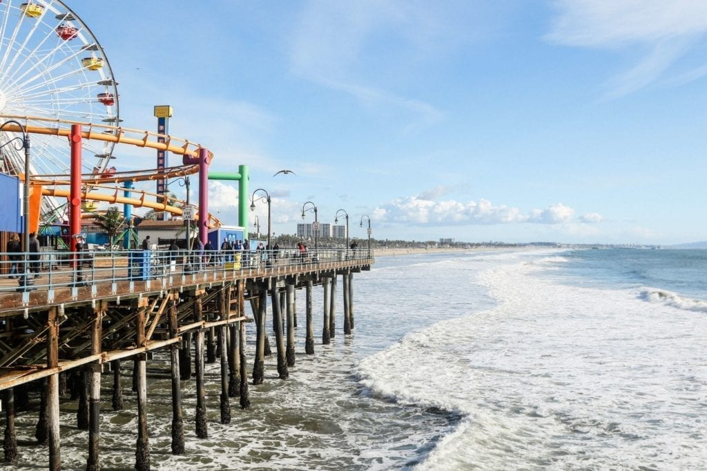 A photo of Santa Monica Pier in Orange County.