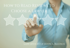 how to read reviews to choose a lawyer