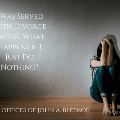 I Was Served With Divorce Papers. What Happens if I Just Do Nothing?